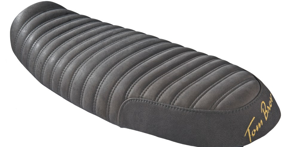 TOM BROS SLAMMER SEAT -VINTAGE BLACK!! Available also with with rear embroidered signature in Black