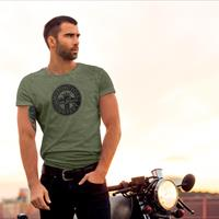 T.SHIRT MOTORCYCLE COMPANY TOM BROS - VERDE MILITARE